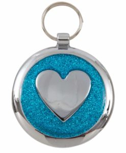 Tagiffany Shimmer Heart Azure Blue Pet ID Tag