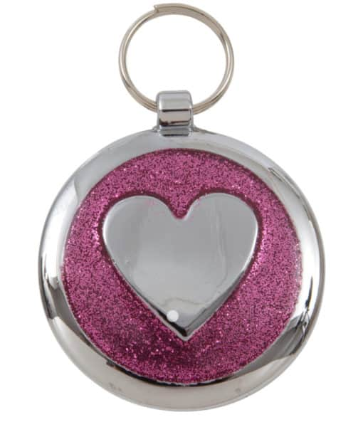 Tagiffany Shimmer Pretty Pink Heart Pet ID Tag