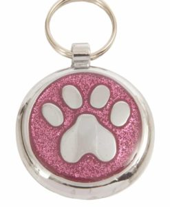 Tagiffany Shimmer Paw Pretty Pink Pet ID Tag