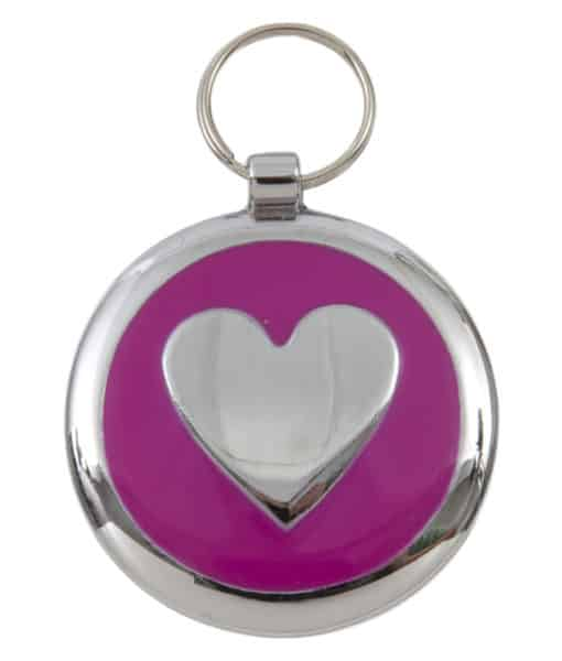 Tagiffany Smartie Heart Pink Pet ID Tag