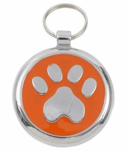 Tagiffany Smartie Paw Orange Pet ID Tag
