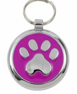 Tagiffany Smartie Paw Pink Pet ID Tag