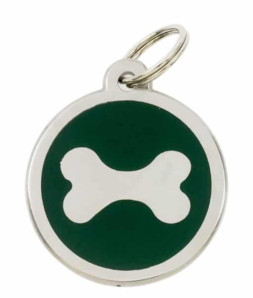 Sweetie Bone Engraved Pet ID Tag for Dogs - Green