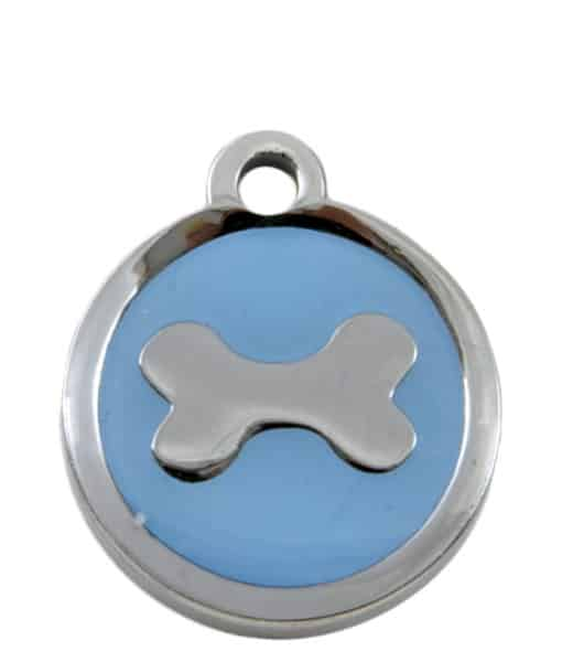 Sweetie Bone Engraved Pet ID Tag for Dogs - Light Blue
