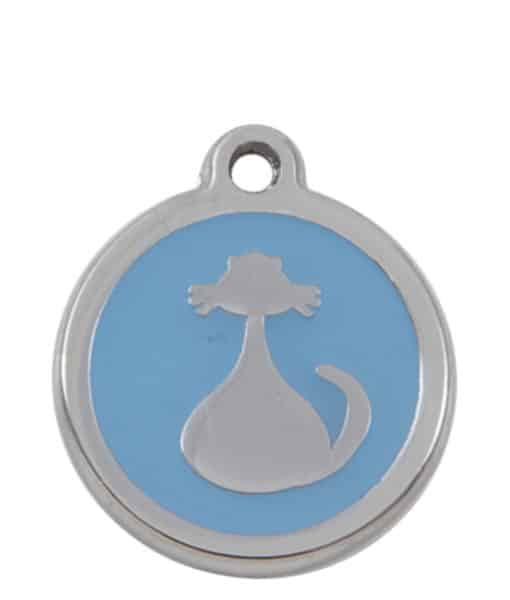 Sweetie Cat Engraved Pet ID Tag for Cats - Light Blue