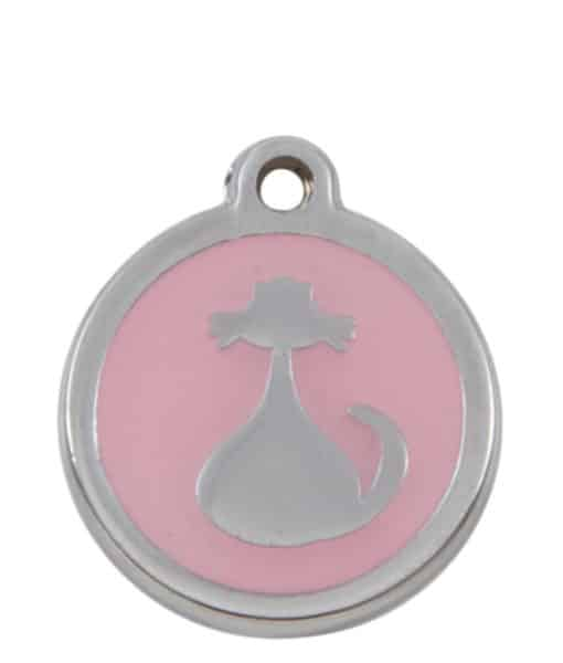Sweetie Cat Engraved Pet ID Tag for Cats - Light Pink