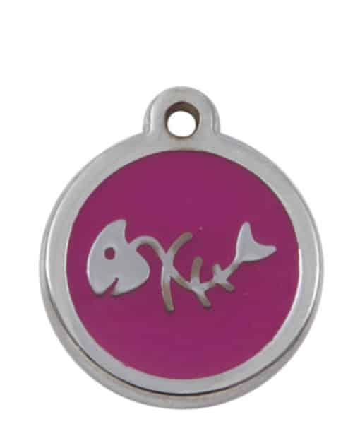 Sweetie Fishbone Engraved Pet ID Tag for Cats - Pink