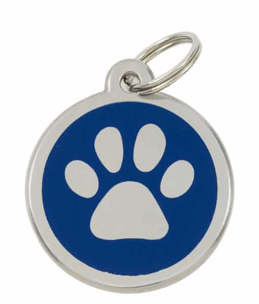Sweetie Paw Print Custom Pet Tags for Dogs - Blue