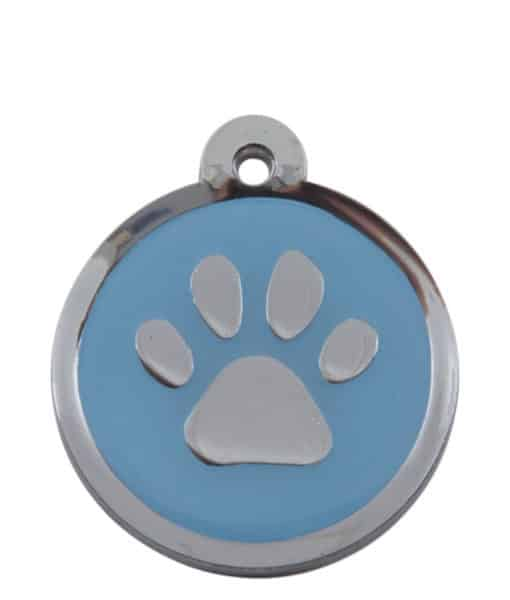 Sweetie Paw Print Custom Pet Tags for Dogs - Light Blue