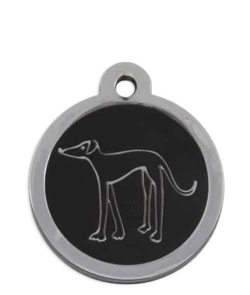 Retired Greyhound Trust Pet ID Tag for Dogs - Black