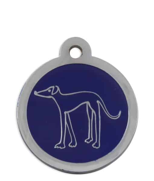 Retired Greyhound Trust Pet ID Tag for Dogs - Blue