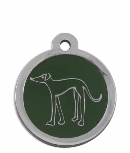 Retired Greyhound Trust Pet ID Tag for Dogs - Green
