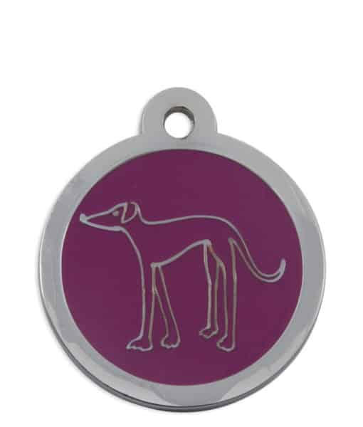 Retired Greyhound Trust Pet ID Tag for Dogs - Pink