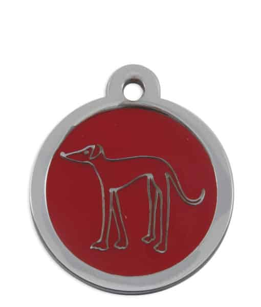 Retired Greyhound Trust Pet ID Tag for Dogs - Red