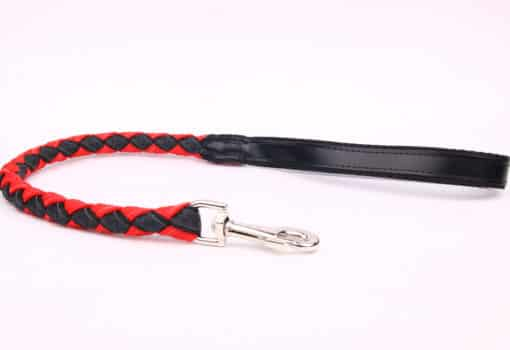 Plaited Lead - Black Red