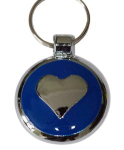 Tagiffany Smartie Heart Blue Pet ID Tag