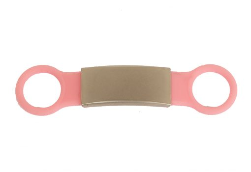 Tagiffany Silicone Slider Collar Tag Pink Pet ID Tag